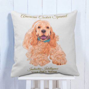Personalised Cushion American Cocker Spaniel