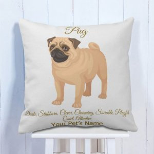 Personalised Cushion Pug Lover