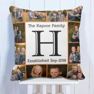 Personalised Cushion For 12 Photo