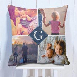 Personalised Cushion Family 4 Photo