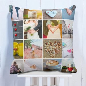 Personalised Cushion Memoriable 16 Photo Cushion