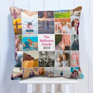 Personalised Cushion Awesome Days 24 Photo Cushion
