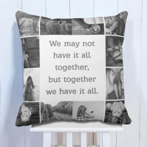 Personalsied Cushion Quote With 12 Photo