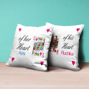 Personalised Cushion King and Queen - Set of 2