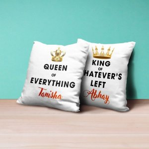 Personalised Cushion Queen & King- Set of 2