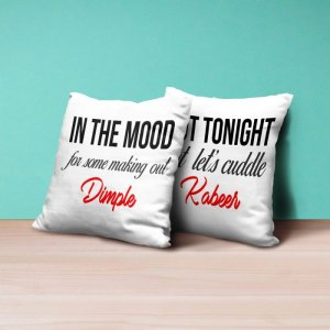 Personalised Cushion For In The Mood - Set of 2