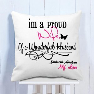 Personalised Cushion For Wife & Husband