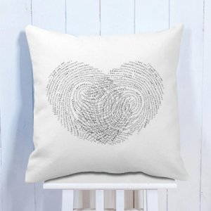 Personalised Cushion Thumb Impressions