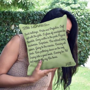 Personalised Cushion Love Story