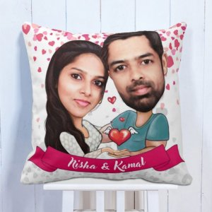 Personalised Cushion Couple Caricature