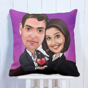 Personalised Caricature Cushion Together Forever