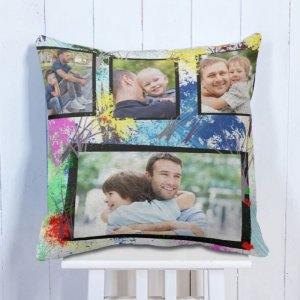 Personalised Cushion Love Dad & Son