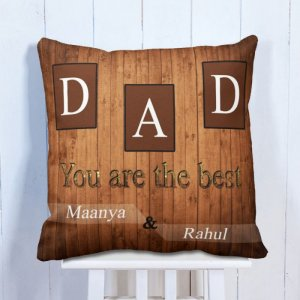 Personalised Cushion Father Is The Best