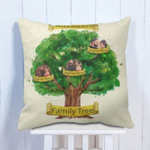 Personalised Cushion Family Tree