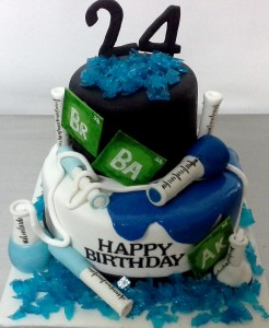 Breaking Bad Customized Birthday CakeBreaking Bad Customized Birthday Cake
