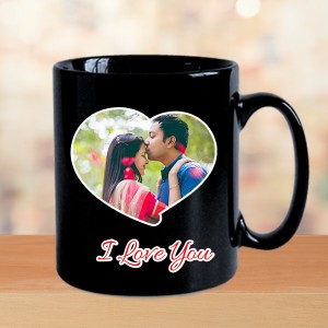 Heart Photo mug BLACK