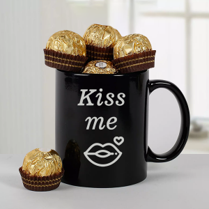 Ferrero Chocolate with Black Mug