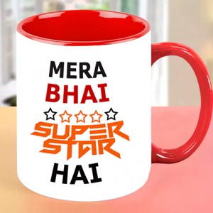 Mera Bhai Superstar Personalized Mug