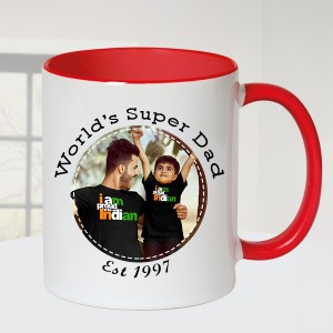 World's Super Dad Personalized Mug