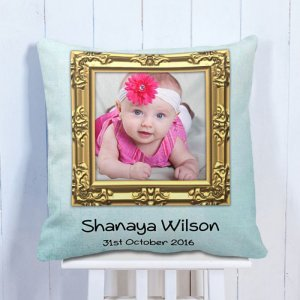 Personalised Cushion My Daughter's Born Day