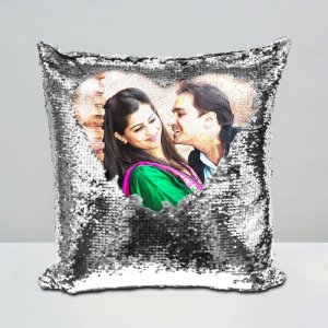 Personalised Magic Cushion Silver