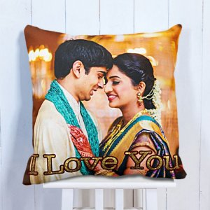 Personalised Cushion Love Forever Happiness