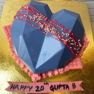 Heart Pinata Cake