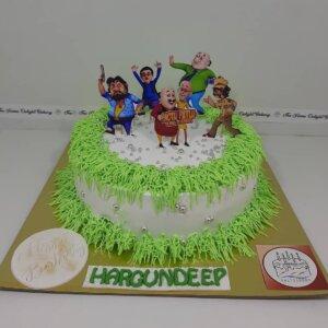 Motu Patlu Design Cake