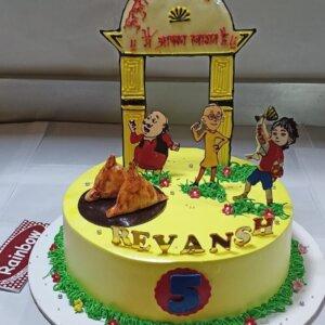 Motu Patlu Theme Cake