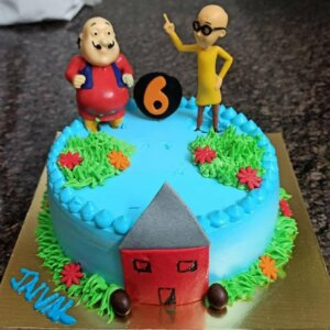 Motu Patlu Cartoon Cake