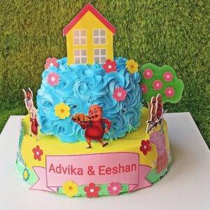 Motu Patlu Chocolate Cake