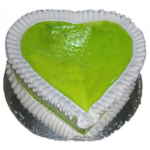 Green Forest Heart Cake