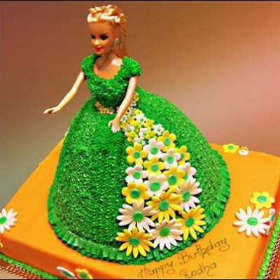 Princess Green Forest Cake