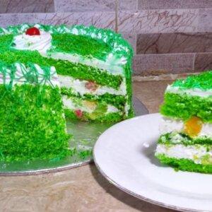 Green Forest Birthday Cake