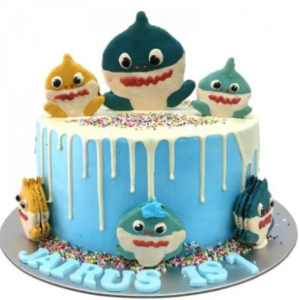 Buttercream Baby Shark Cake