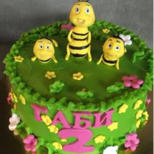 Honey Bee Theme Cake