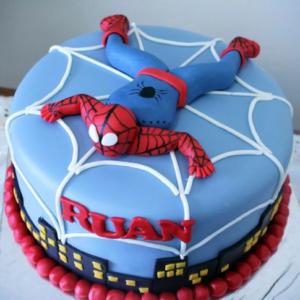 boy spiderman cake