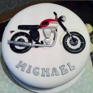 bullet bike cake