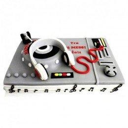dj mixer cake
