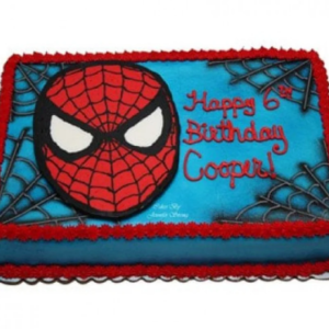 spiderman cake photo