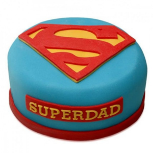 superman theme cake