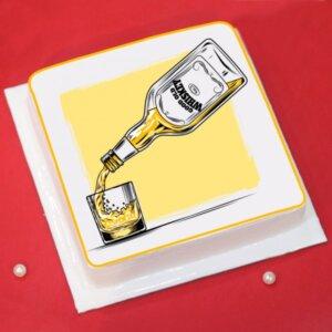 Liquor Theme Cake for Father