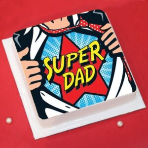 Super Hero Daddy Cake