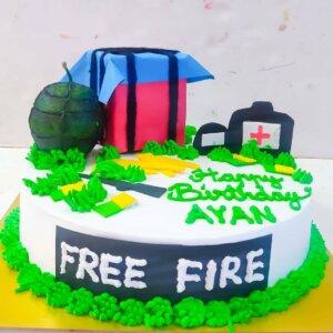 Free Fire Birthday Cake