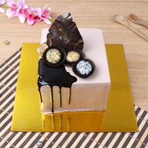 White choco truffle cake